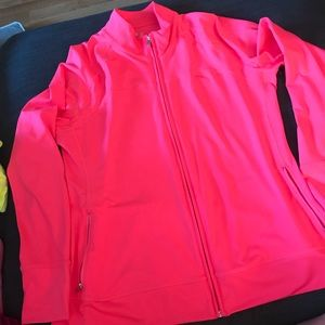 Gap fit—pinky coral track jacket.